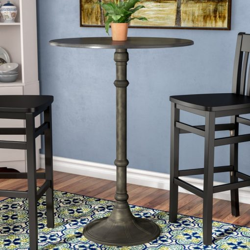 jules distressed wrought iron pub table