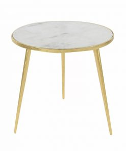kira elegance aluminum marble accent end table
