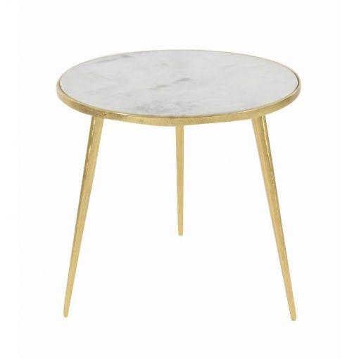 kira elegance aluminum marble accent end table