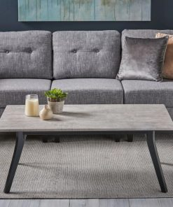 kyla marble and gray oak coffee table