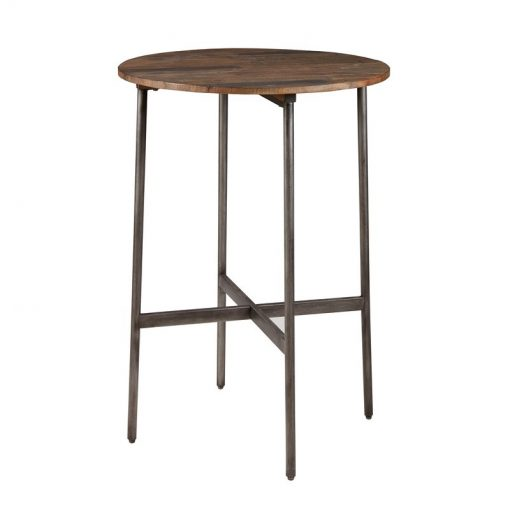 lana wood top and gunmetal metal frame pub table