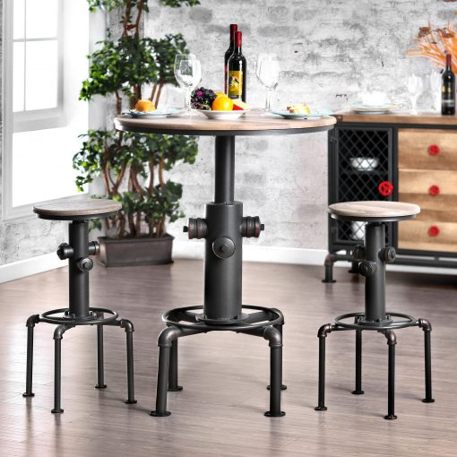 lapis protector hydrant inspired metal bar height round table