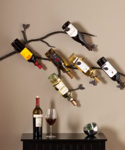 loretta 6 bottle wall mounted branch wine rack sculpture