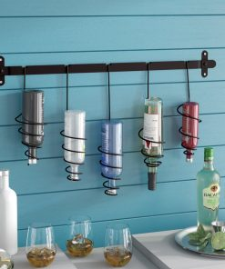 madigan 5 bottle wall mount wine storage rack