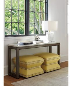 mara rectangular marble top and hardwood solids frame console table
