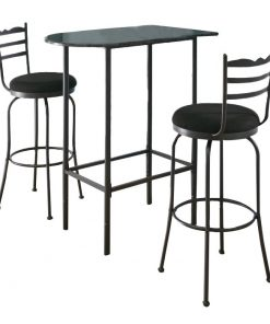 merrigan half moon silhouette with straight tube legs pub table