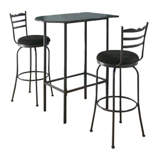 merrigan half moon silhouette with straight tube legs pub table