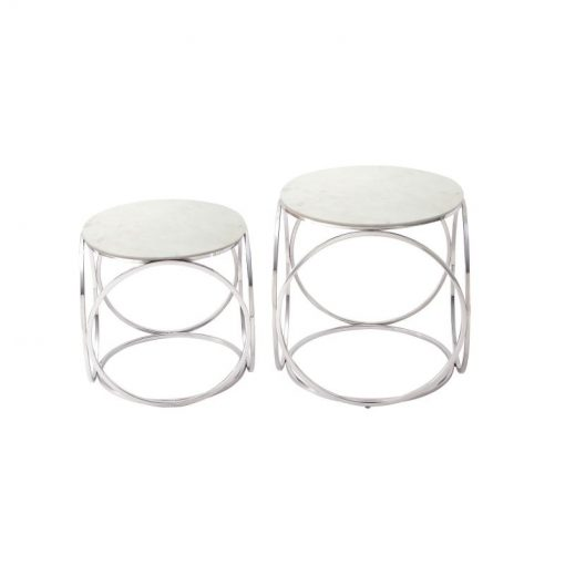 nicole set of 2 modern round accent tables