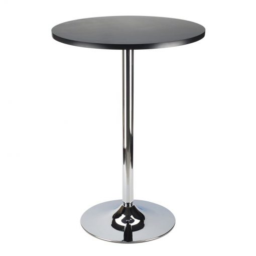 padma round wood tabletop and pedestal base bar table