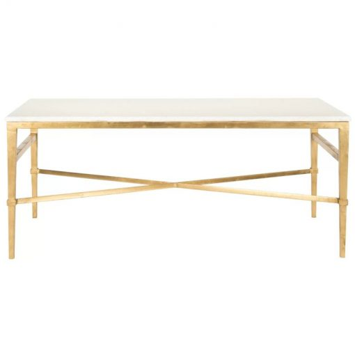 pilar antique gold cocktail coffee table