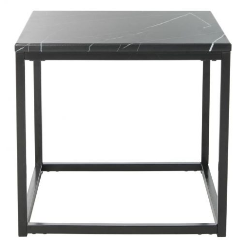 rebecca resin marble top with metal frame end table
