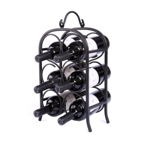 reverie 6 bottle tarnish resistant metal tabletop wine rack