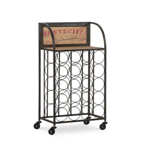 roller-20-bottle-floor-wine-rack-with-four-castered-wheel-feet