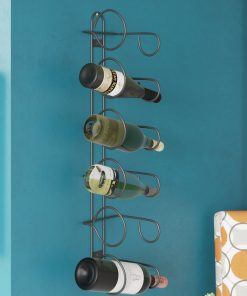 savanna 6 bottle metal wall mounted wine rack