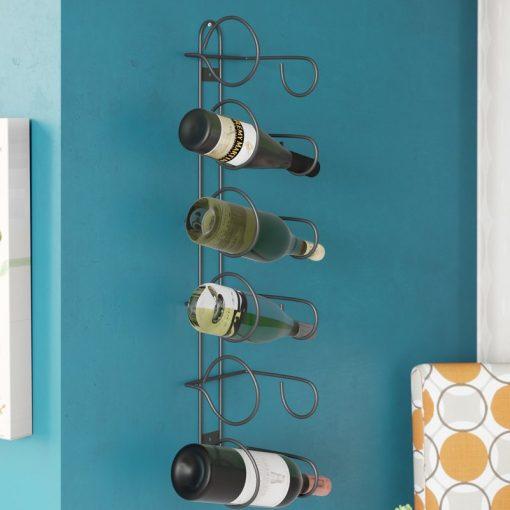 savanna 6 bottle metal wall mounted wine rack