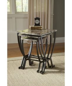 shoshanna 3 piece matte espresso nesting end tables