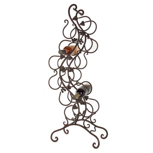 sivan 12 bottle metal vineyard style floor wine rack1