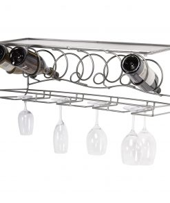 spanx 6 bottle wine bar wall mount winerack