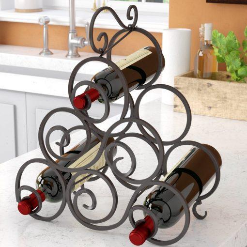 stephanie 6 bottle tabletop wine bottle rack