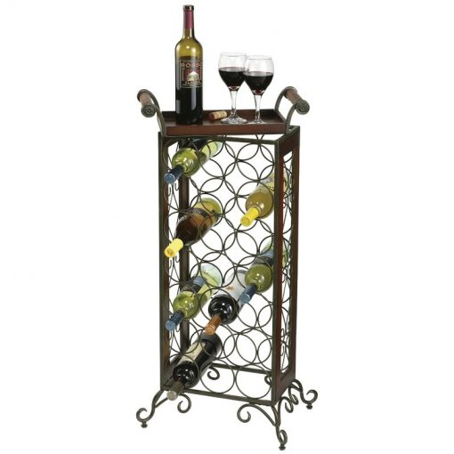 sybil 21 bottle floor wine rack with removable tray top