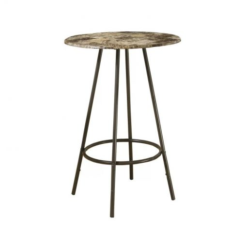sylvester marble tabletop with metal frame pub table