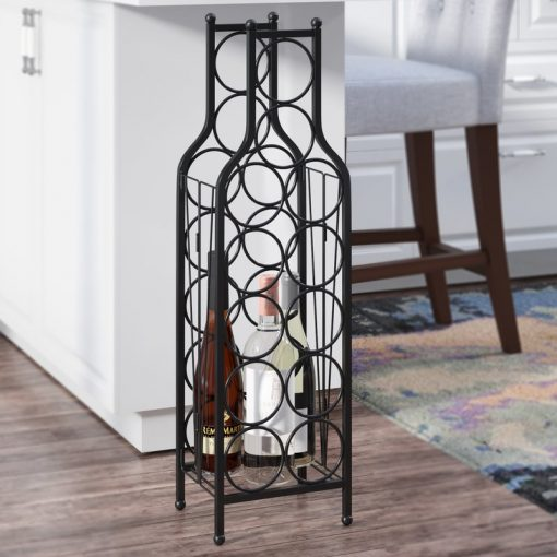 thea 12 bottle metal floor wine rack