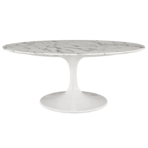 valerie marble coffee side table with lacquered metal base