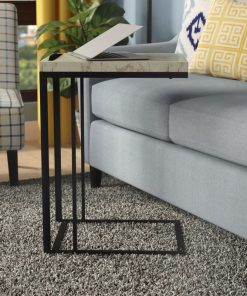 zadie c shaped slide under sofa end table