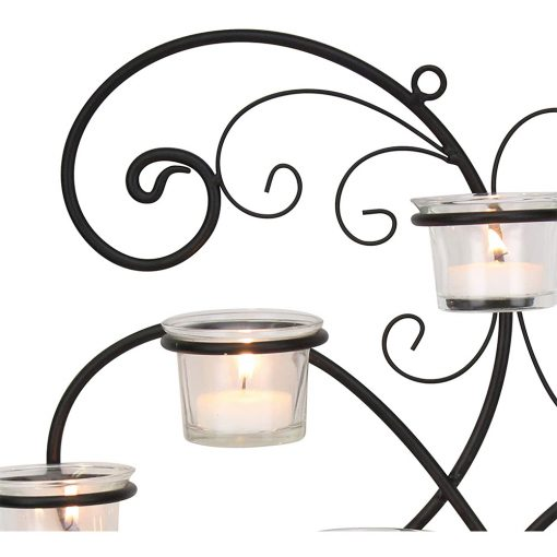 16in Wall Tea Light Candle Holders Partial detail drawing