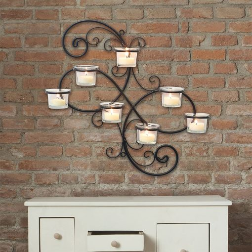 16in Wall Tea Light Candle Holders Real shot 2