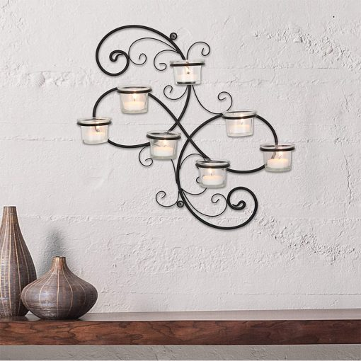 16in Wall Tea Light Candle Holders Real shot 3