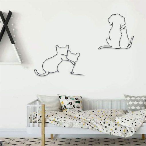 Cat and dog wall decoration real shots