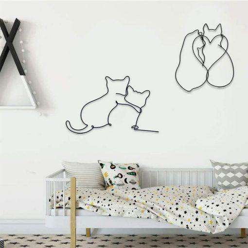 Cat wall decoration real shots