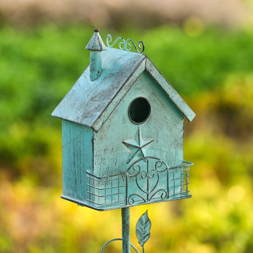 Tall Distressed Outdoor Pole Birdhouses real shot 2